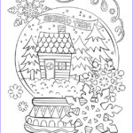 Adult Coloring Christmas Cards Luxury Gallery Merry Christmas Snow Globe