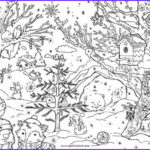 Adult Coloring Christmas Cards New Photos Christmas Woods Colouring Card