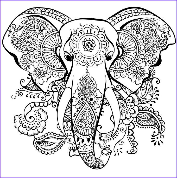 Adult Coloring Elephant Cool Collection 324 Best Adult Colouring Elephants Zentangles Images On