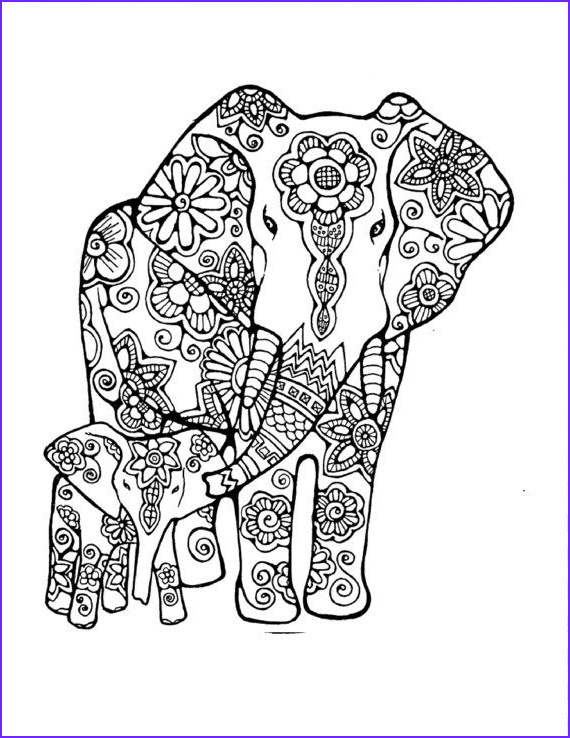 Adult Coloring Elephant Elegant Photos Adult Coloring Page original Hand Drawn Art In Black and