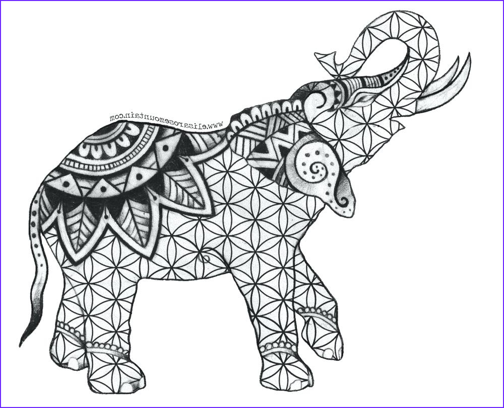 Adult Coloring Elephant Luxury Photos Elephant Mandala Coloring Pages at Getcolorings