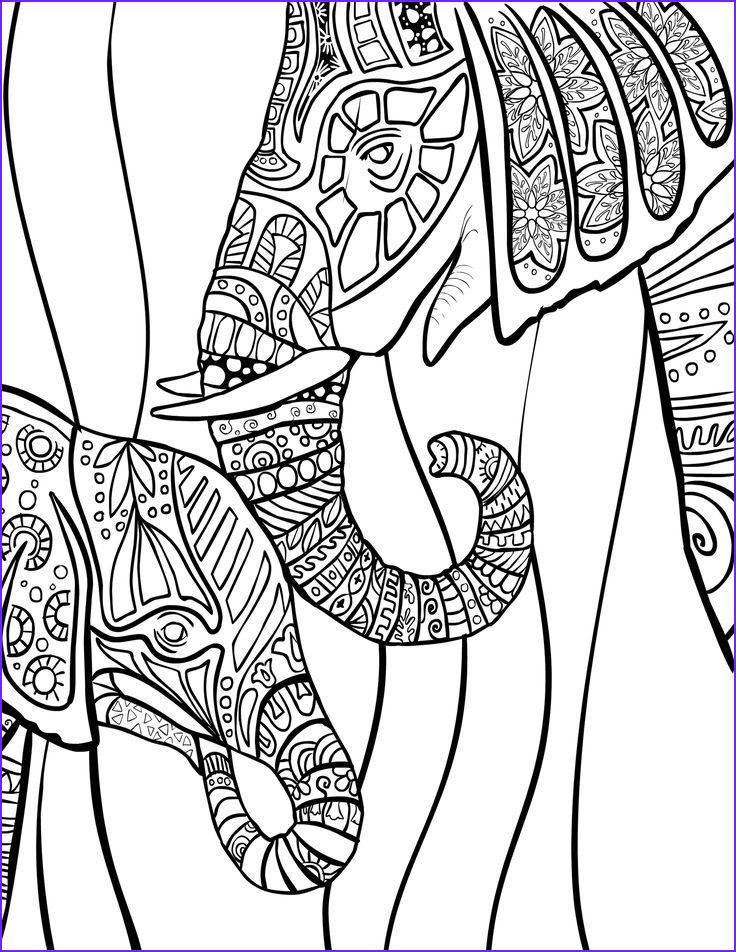Adult Coloring Elephant New Photography 324 Best Adult Colouring Elephants Zentangles Images On