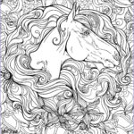 Adult Coloring Horse Cool Photos Horse In Flowers Horses Adult Coloring Pages