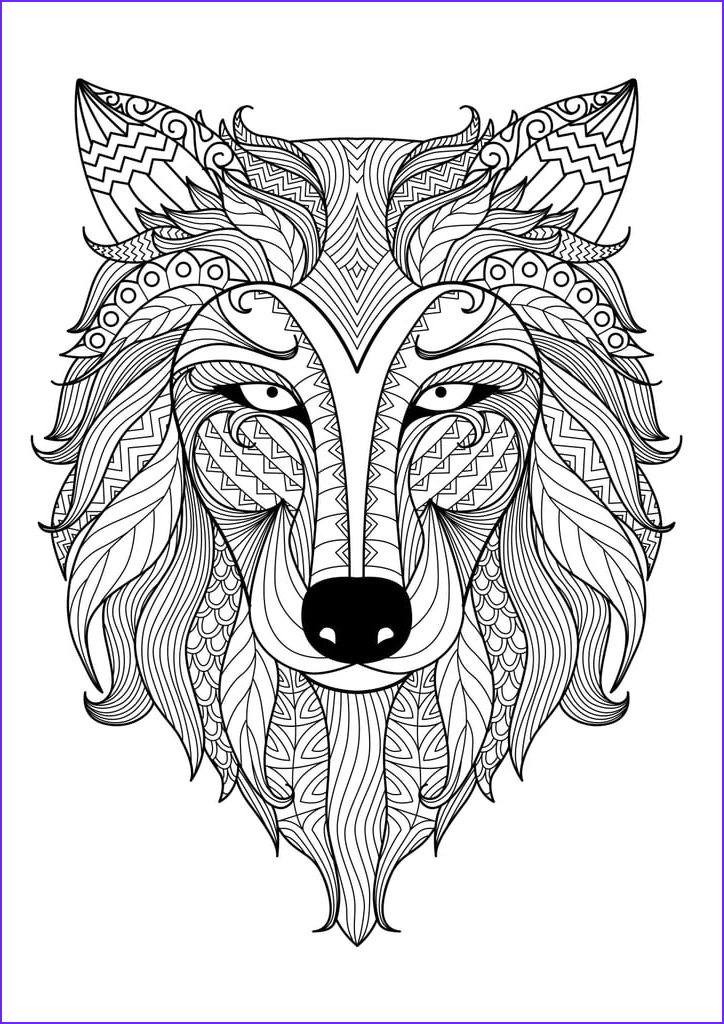 Get coloring page Wolf