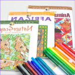 Adult Coloring Markers Awesome Gallery Adult Coloring Book Kit With Pentel Fine Point Color