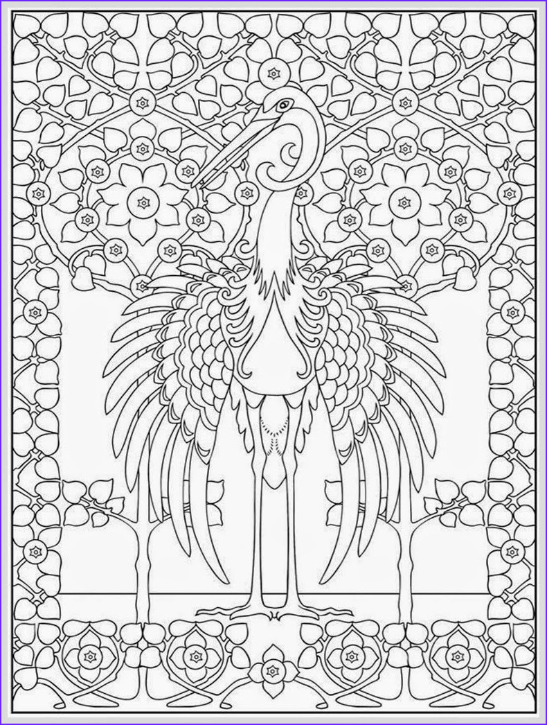 heron bird adult coloring pages free