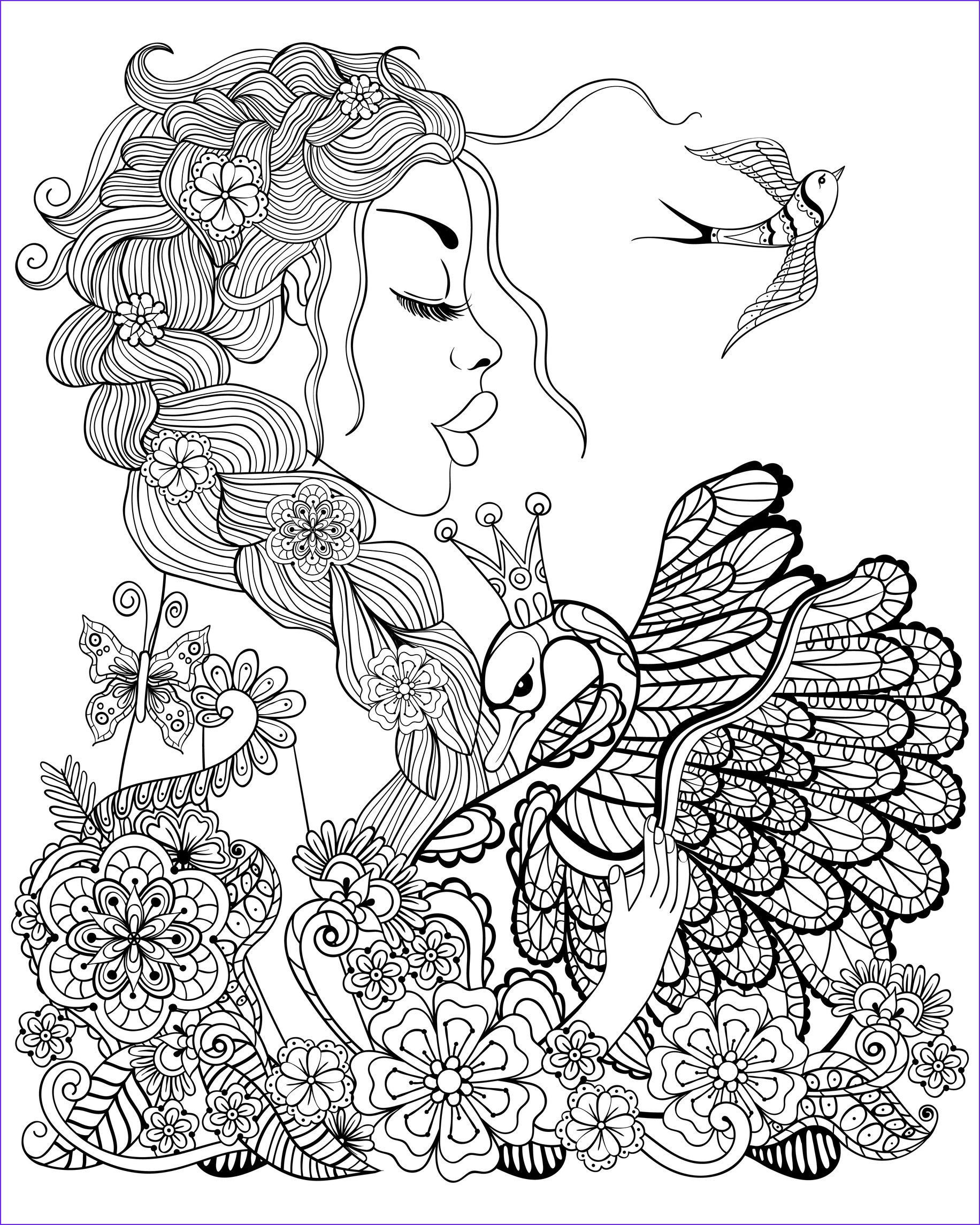 Adult Coloring Pages Birds Luxury Gallery Fairy Coloring Pages for Adults