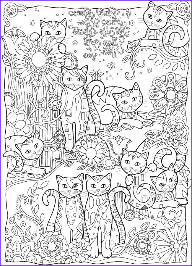 Adult Coloring Pages Cat Luxury Photography Wel E to Dover Publications Creative Haven Creative Cats