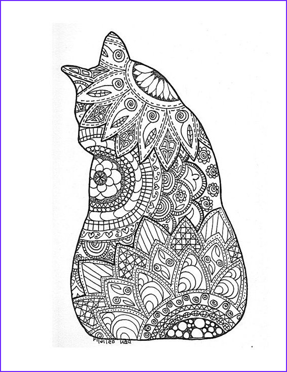 Adult Coloring Pages Cat New Gallery Adult Colouring Page original Digital Download