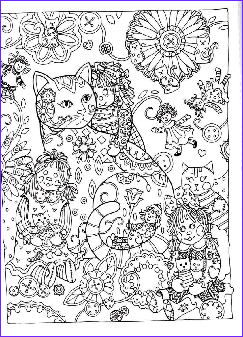 Adult Coloring Pages Cat Unique Collection Creative Haven Creative Cats Dover Publications Coloring