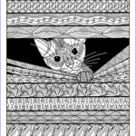 Adult Coloring Pages Cats Cool Images Adult Colouring Cats Dogs Zentangles 10 Handpicked