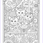 Adult Coloring Pages Cats Cool Photos Window Box Creative Kittens Coloring Book By Marjorie