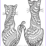 Adult Coloring Pages Cats Luxury Stock 630 Best Adult Colouring Cats Dogs Zentangles Images On