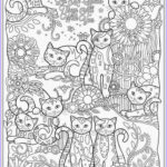 Adult Coloring Pages Cats Unique Collection Cat Coloring Pages For Adult