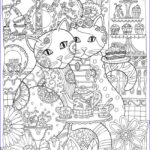 Adult Coloring Pages Cats Unique Collection Cat Coloring Pages For Adults