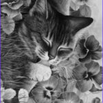Adult Coloring Pages Cats Unique Photos Coloring Pansies And Kittens On Pinterest