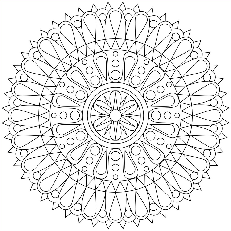 Adult Coloring Pages Easy Beautiful Collection these Printable Mandala and Abstract Coloring Pages