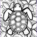 Adult Coloring Pages Easy Inspirational Image Instant Download Coloring Page Simple Turtle Zentangle
