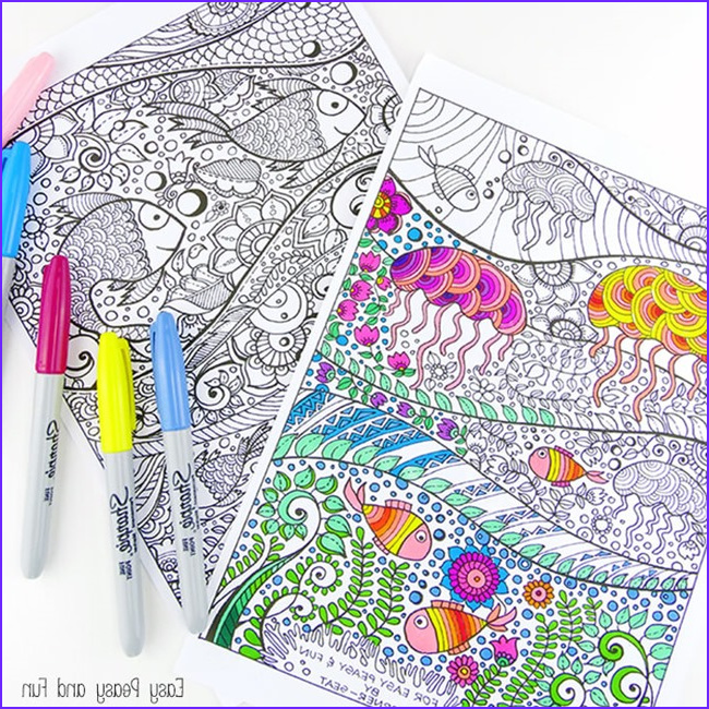 Adult Coloring Pages Easy New Collection Printable Coloring Pages for Adults 15 Free Designs