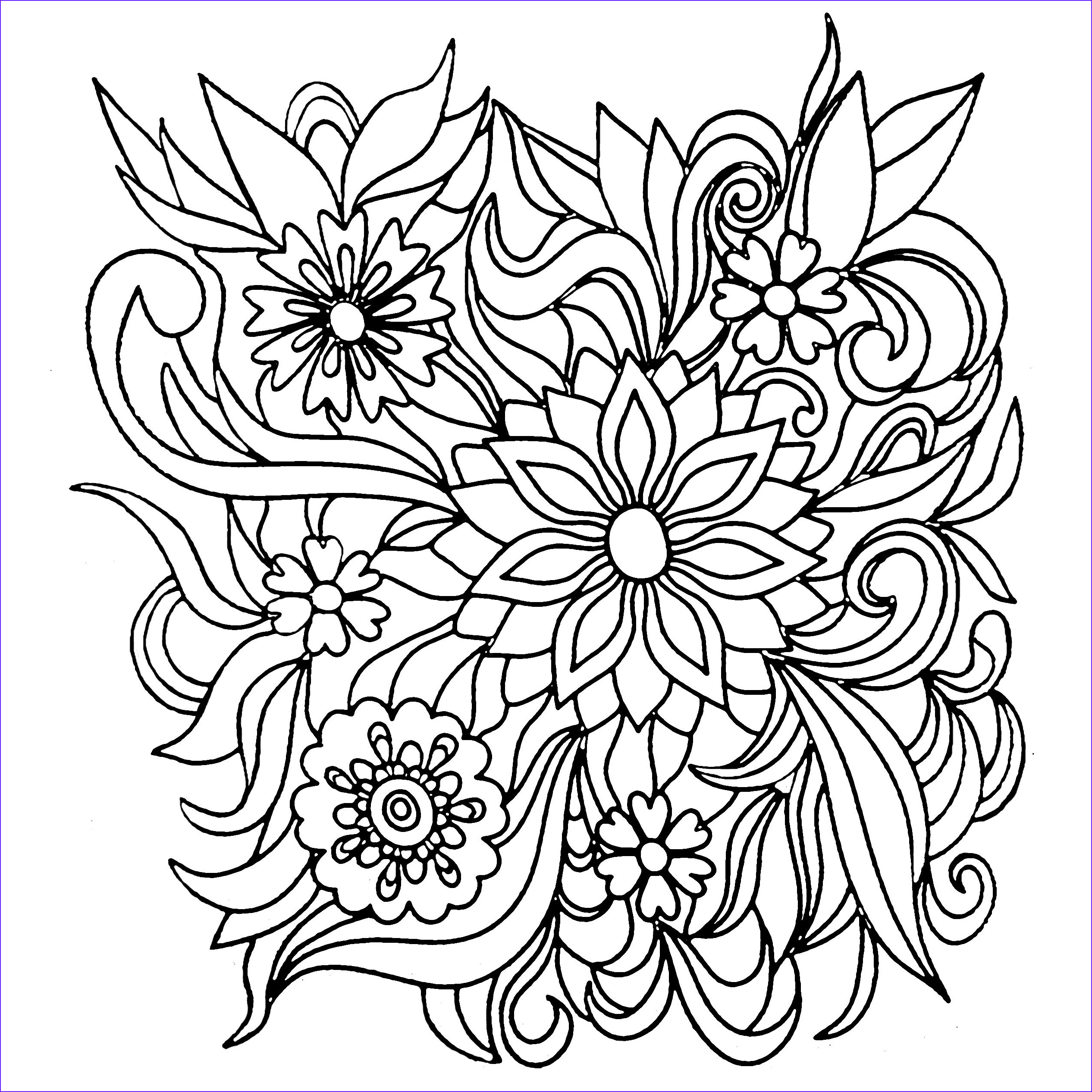 Adult Coloring Pages Flower Luxury Image Colors Of Nature Adult Colouring Book Flowers