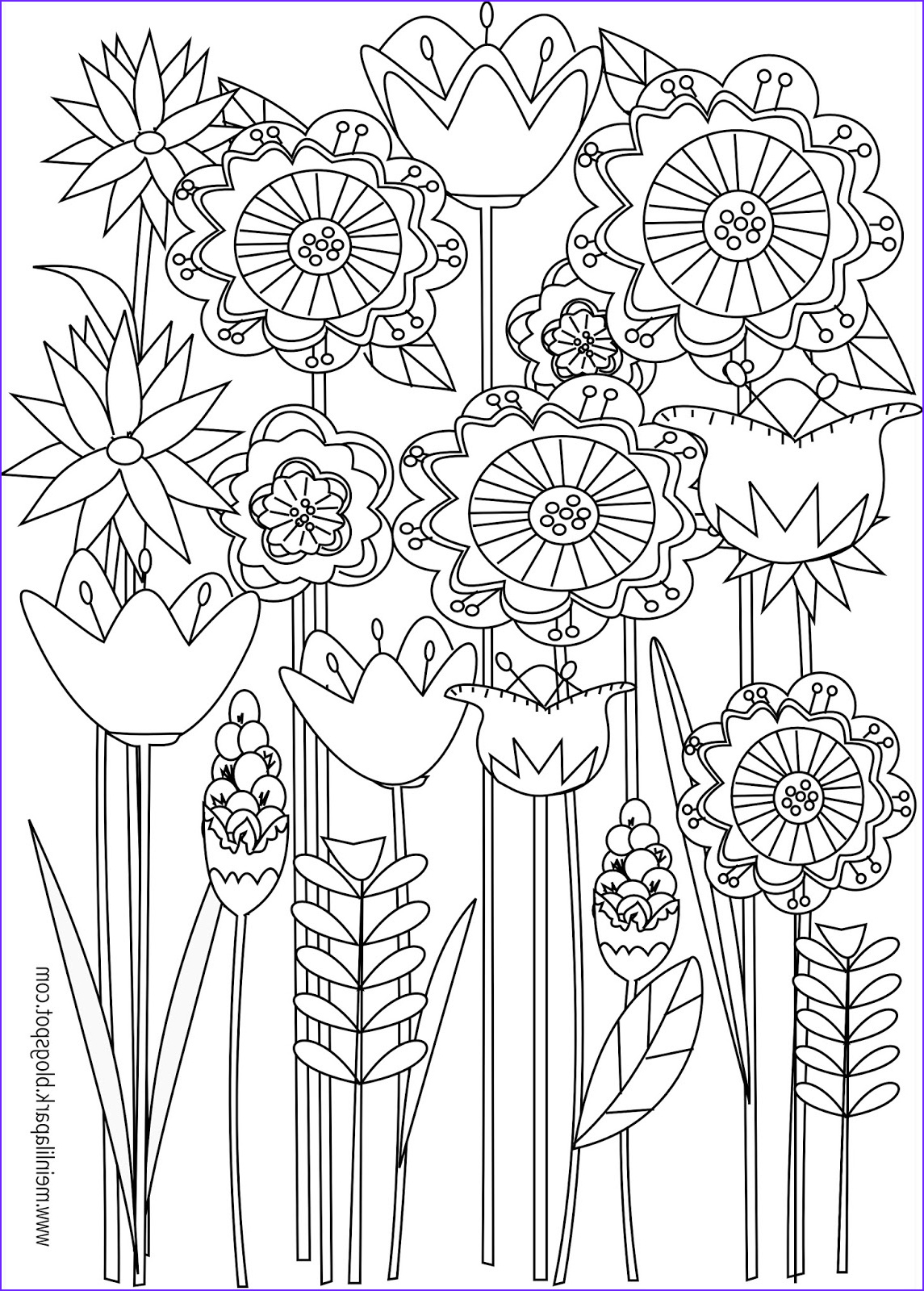 Adult Coloring Pages Flowers New Photos Free Printable Floral Coloring Page Ausdruckbare