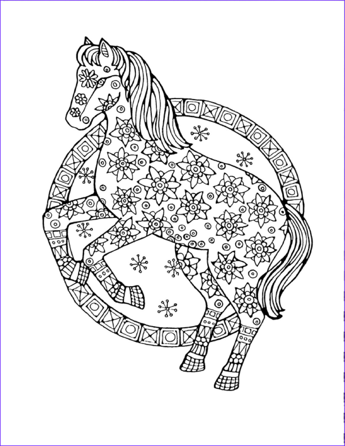 Adult Coloring Pages Horse Beautiful Collection Adult Horse Coloring Pages