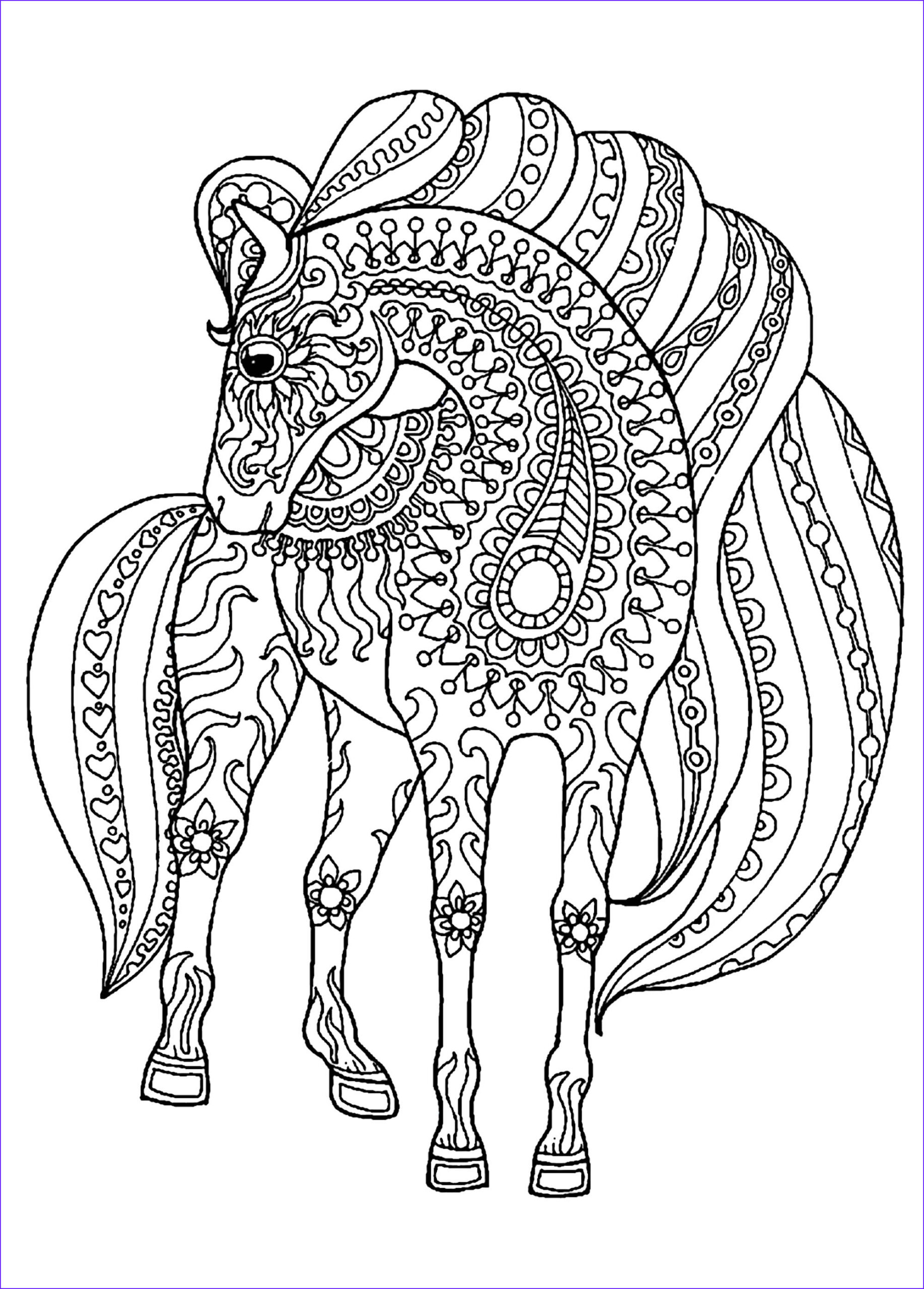 image=horses coloring horse simple zentangle patterns 1