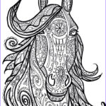 Adult Coloring Pages Horse Best Of Photos Horse Tribal Head Art By Marie Justine Roy