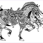 Adult Coloring Pages Horses Awesome Collection Majestic Horse