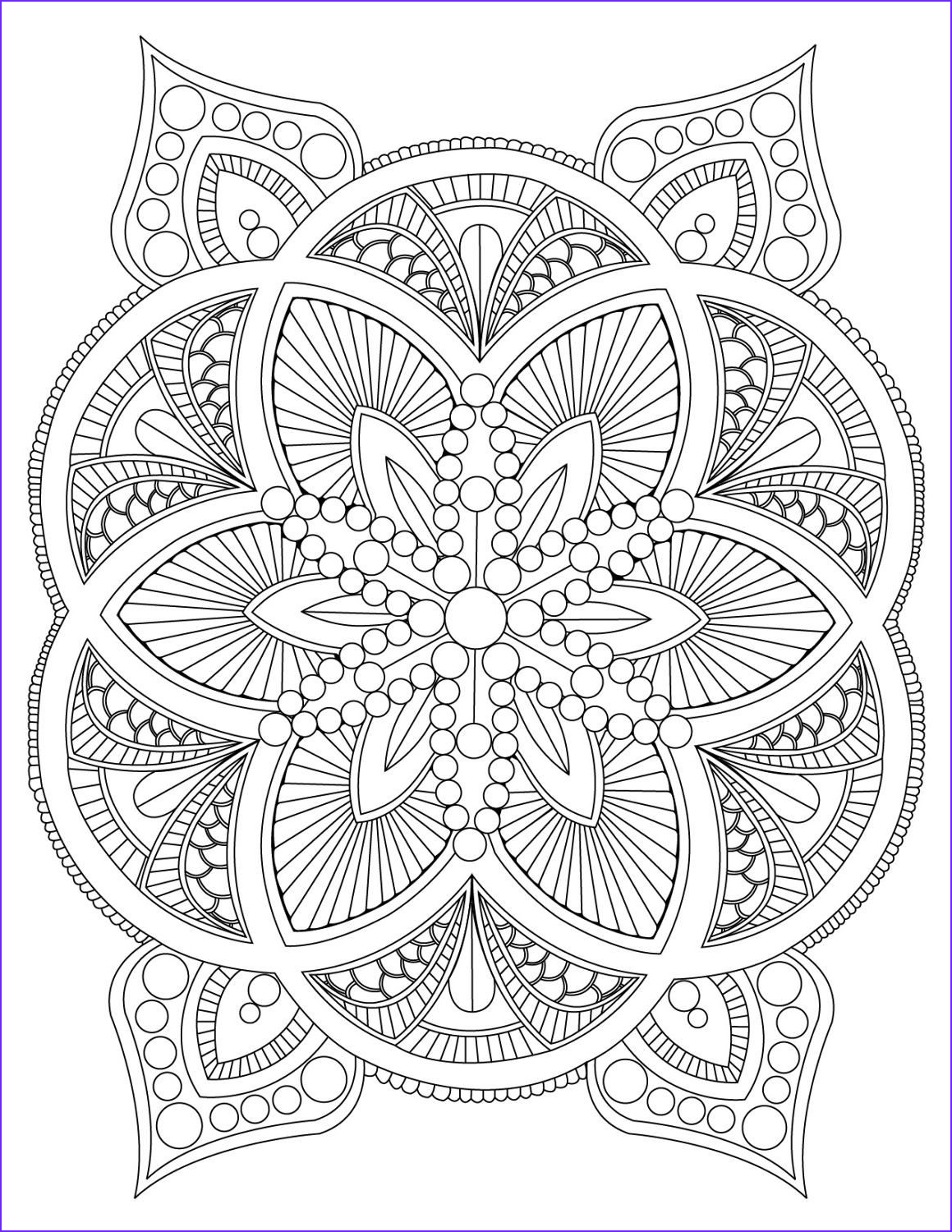 Adult Coloring Pages Mandala Best Of Images Abstract Mandala Coloring Page for Adults Digital Download