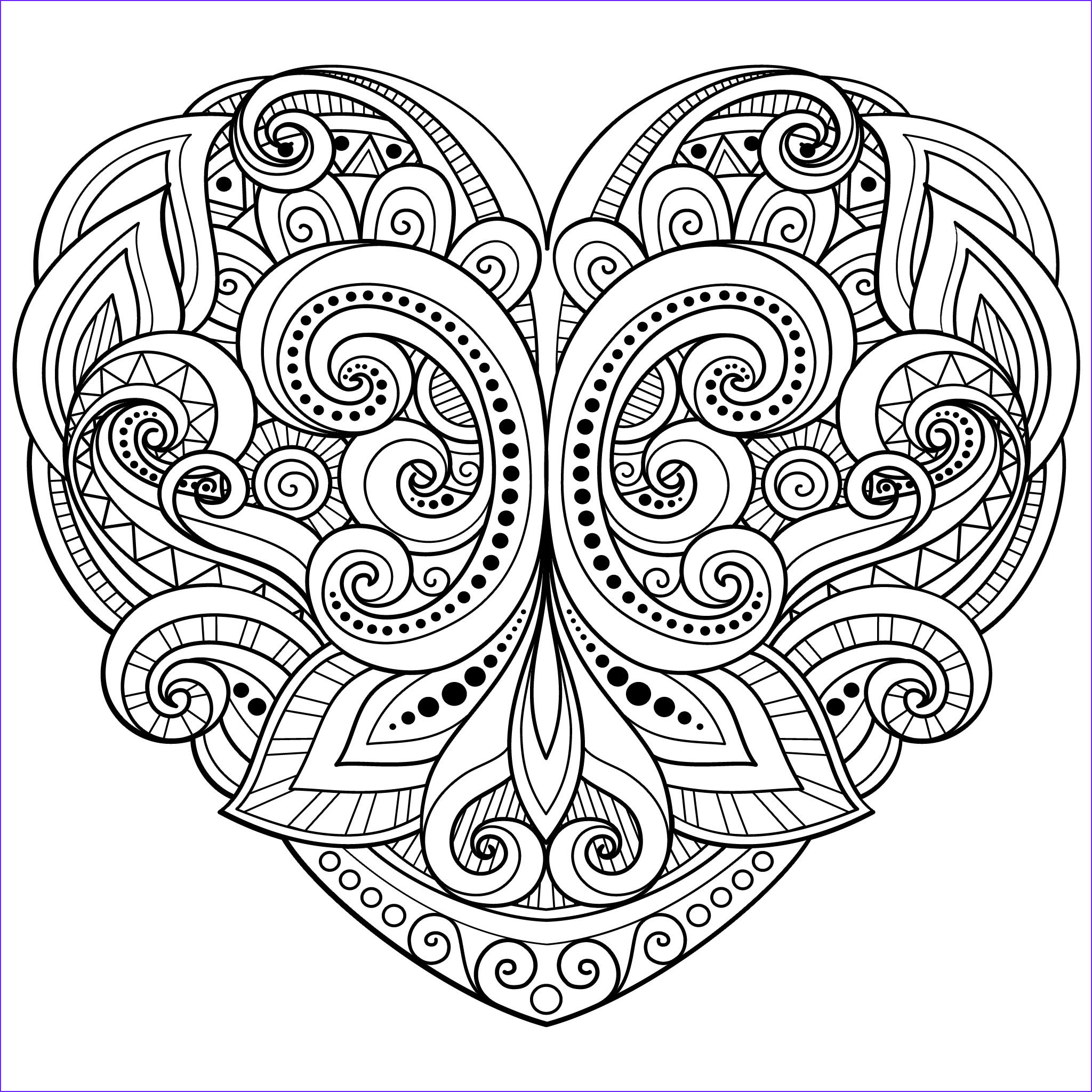 Adult Coloring Pages Mandala Luxury Photos Love Heart Coloring Page