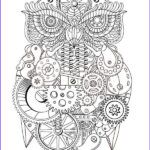 Adult Coloring Pages Pdf Inspirational Stock Free Printable Steampunk Owl Adult Coloring Page Download