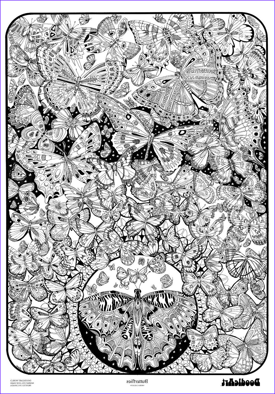Adult Coloring Posters Awesome Gallery Amazon the original Doodle Art butterflies Adult