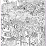 Adult Coloring Posters Awesome Gallery Seascape Doodle Art Colouring Poster This Was Uploaded By