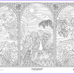 Adult Coloring Posters Awesome Image Stained Glass Window Doodle Art Coloring Poster By