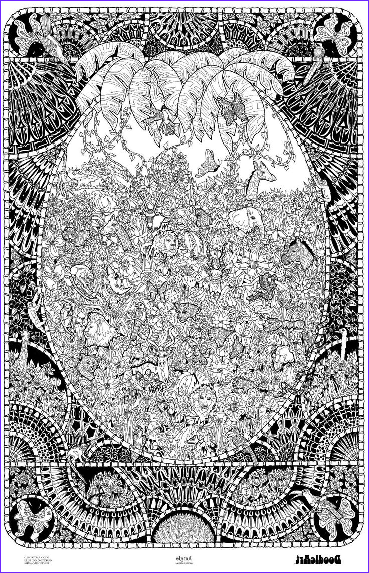 Adult Coloring Posters Elegant Image Doodleart Jungle Coloring
