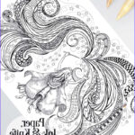 Adult Coloring Posters Luxury Images Magic Girl Printable Poster Sized Adult Coloring Page