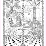 Adult Coloring Posters Luxury Photos Coloring Carousels And Teenagers On Pinterest