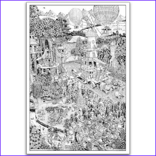 Adult Coloring Posters Unique Collection Wildergorn Color In Posters Potters Road Giant