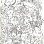 Adult Disney Coloring Books Inspirational Collection Alice In Wonderland By Sidoans