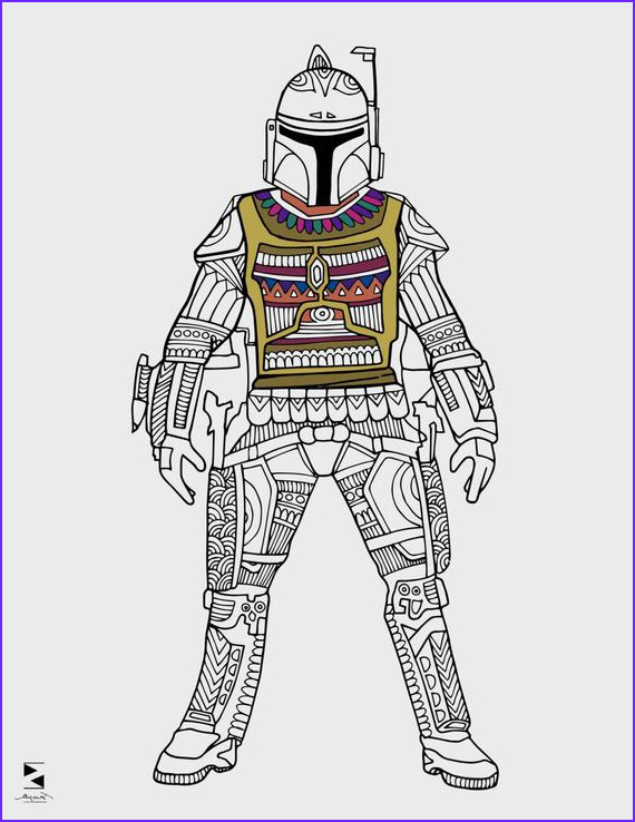 Adult Star Wars Coloring Book Awesome Photos Star Wars Coloring Pages Boba Fett Printable Adult Coloring