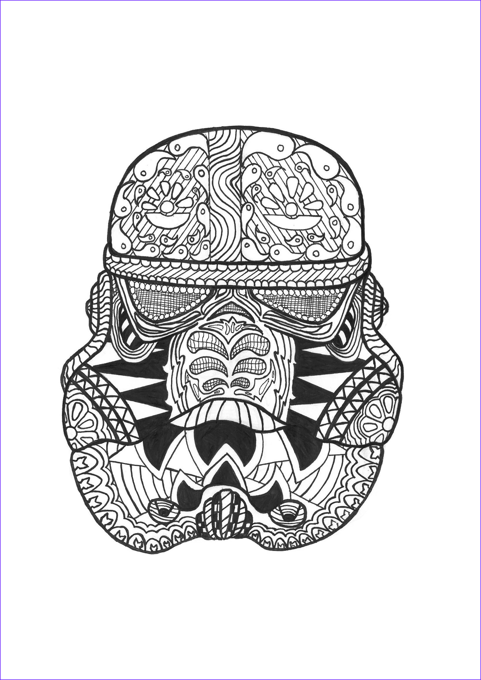 Adult Star Wars Coloring Book Best Of Collection Zen Stormtrooper Anti Stress Adult Coloring Pages