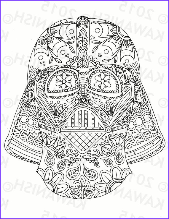 Adult Star Wars Coloring Book Cool Photos Day Of the Dead Darth Vader Mask Adult Coloring Page T Wall