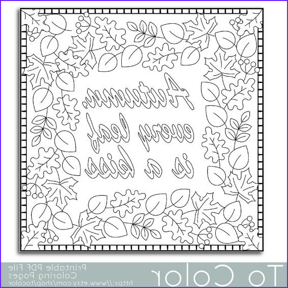 Adult themed Coloring Books Best Of Stock Items Similar to Autumn Leaves Coloring Page for Adults