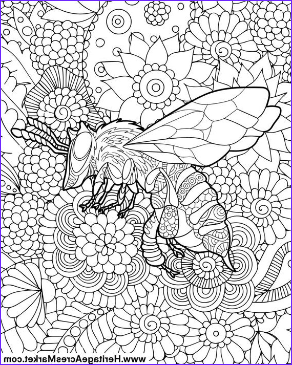 Adult themed Coloring Books Inspirational Gallery Bee theme Adult Plicated Coloring Page Pdf Digital Download