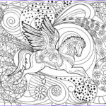 Adults Coloring Book Images Beautiful Photos Pegasus Hand Drawn Adult Coloring Book Page Stock Vector