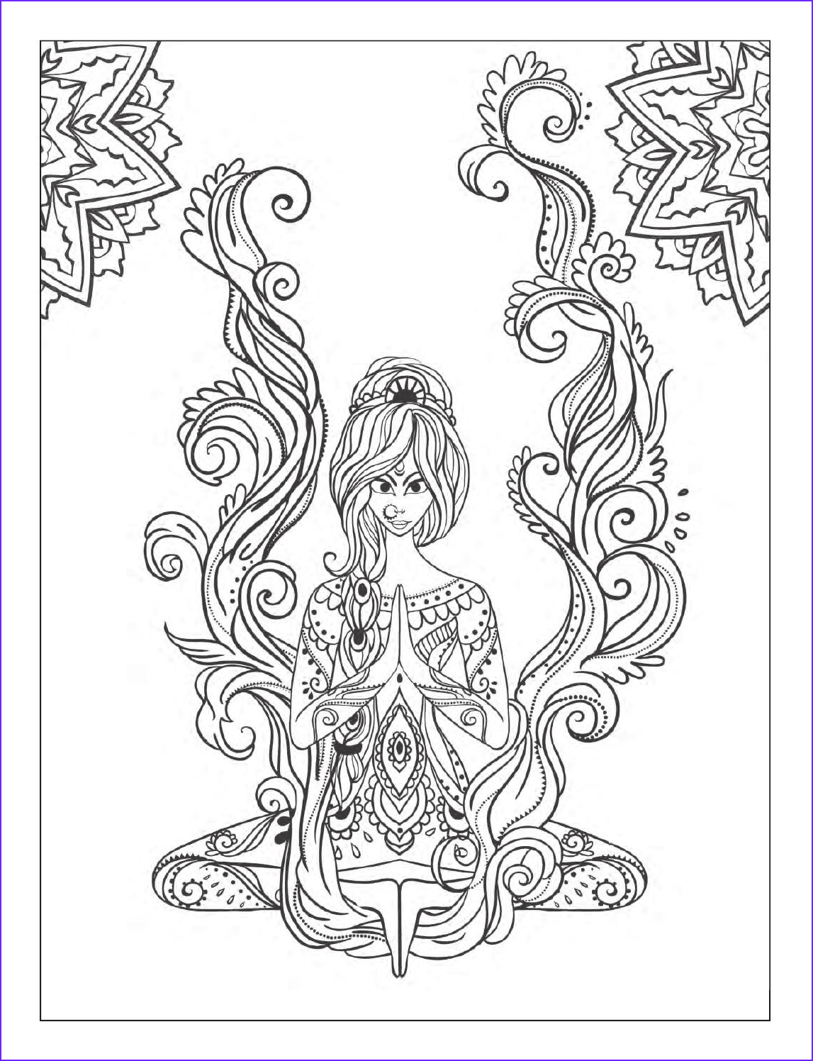 Adults Coloring Book Images Beautiful Photos Yoga and Meditation Coloring Book for Adults with Yoga