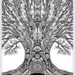 """Adults Coloring Book Images Luxury Gallery """"tree Of Life"""" Doodle Art Free Adult Coloring Page"""