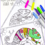 Adults Coloring Book Images New Gallery Colouring Pages For Grown Ups Chameleons Red Ted Art