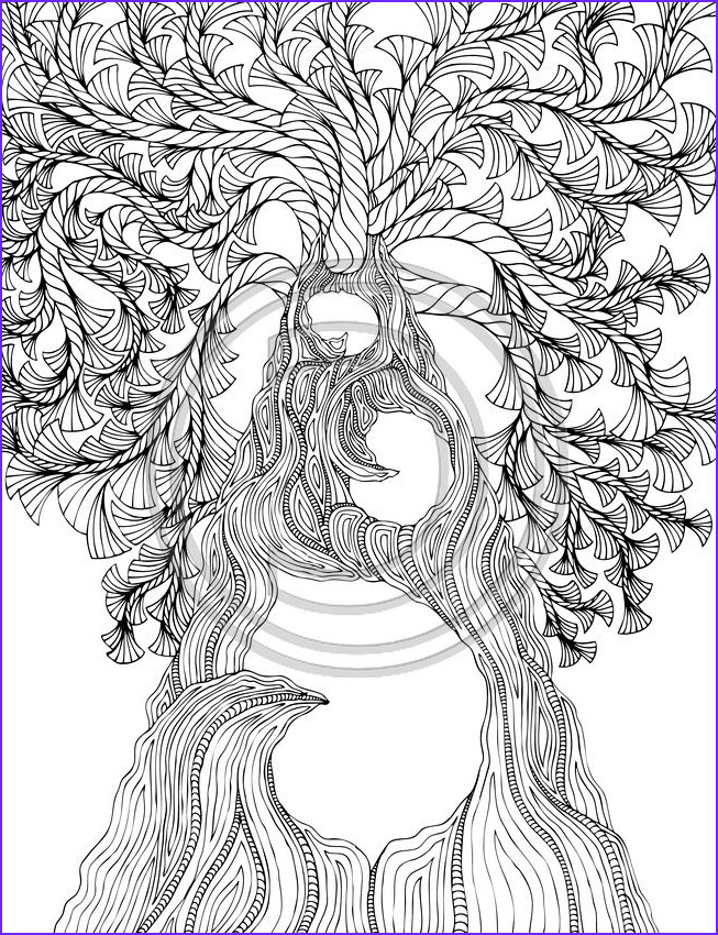 Adults Coloring Book Images New Images Arbre Awesome Coloring Book Page
